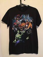 Marvel Avengers Superhero Graphic T-Shirt Thor Hulk Black Mens S
