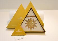 Swarovski 2011 SCS Gold Large Christmas Ornament 1092040 Brand New In Box