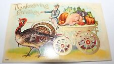 ANTIQUE Postcard ~ Thanksgiving Greetings EMBOSSED