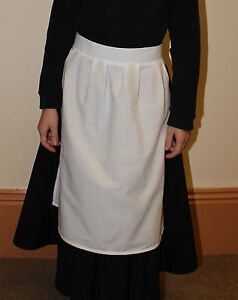 Victorian White Maids Apron Fancy Dress Childs and Adult sizes Book week Costume