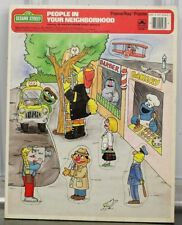 Vintage Golden Sesame Street People in Your Neighborhood Frame Tray Puzzle 1988
