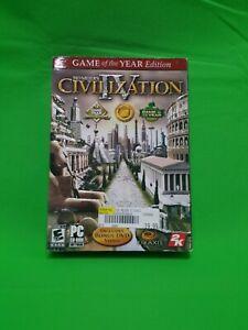Sid Meier's Civilization IV (PC, 2005) - European Version NIB Sealed Great Shape
