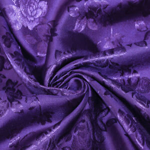 38 Colors Kayla Floral Jacquard Brocade Satin Fabric by the Yard - 10004
