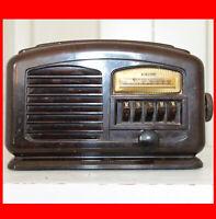 Vintage Airline Model 04BR-513A Bakelite Tube Radio Lighted Dial 40s For Restore