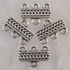 Ea1772 16pcs Tibetan silver tone textured 1-3holes link connector