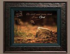 Bible Scripture Verse Picture Be Still (8X10) New Art Print Photo Jesus God