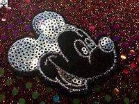 Parche lentejuelas plata Mickey Mouse