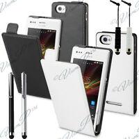 Sony Xperia M Accessoire Etui Housse Coque Cuir Véritable Protection C1905 C2005
