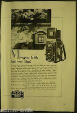 Ikoflex III,Zeiss Ikon Kamera,Objektiv,Film,Zeiss Ikon Dresden,orig.Anzeige 1938