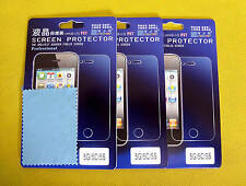 Three PCS iPhone 5 5s 5c Screen  Protector Film With Cleaning Cloth (C543)