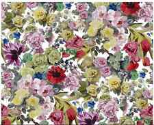 .DESIGNERS GUILD FABRIC ORANGERIE ROSE FLORAL COTTON  F1753/01