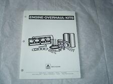 AGCO Massey Ferguson Hesston White New Iidea Gleaner engine overhaul kit manual