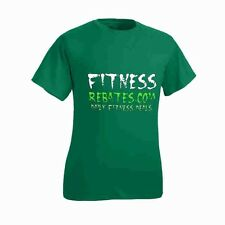 Medium Fitness Rebates Green T-Shirt - M Bodybuilding Workout Gym Training Shirt