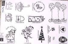 "SUD  STAMPIN' UP! ""TAG TIME"" WOOD SET OF 14. TOO CUTE NIB RET WAS $21.95"