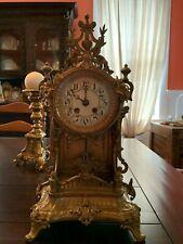 New ListingBeautiful Rare Antique Lenzkirch Ornate Balcony Mantel Clock Brass Working w Key