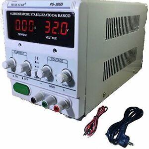 Alimentatore stabilizzato da banco trasformatore variabile regolabile 30V 5A max
