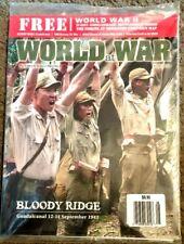 World at War Magazine #37 Bloody Ridge, Guadalcanal w/ NORMANDY MAP Sept 2014