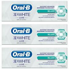 3 x Oral-B 3D White Luxe Blast Whitening Toothpaste PeakFresh - Refreshing Mint