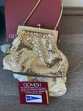 Oroton GLOMESH Gold Small Carry Handbag Bag Clutch