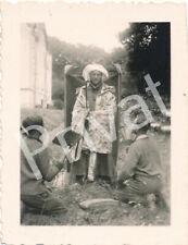 Foto WK2 Soldaten Wehrmacht verkleidet Freizeit Chemery Frankreich France A1.40