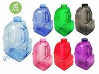 BPA Free 1 Gallon Plastic Water Bottle Container Drinking Canteen Jug Juice H2O