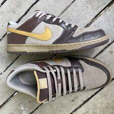 RARE Nike Men's 2008 SB Dunk Low 6.0 Dark Brown Tan 314142 271 Sz 13