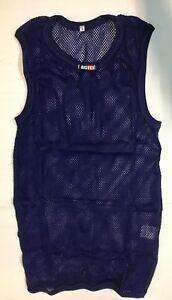 Tank Top Net Underwear Technical Man Biotex Biolux X-SMALL Blue Sleeveless Net