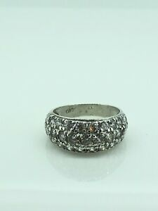 Sterling Silver Cubic Zirconia Ring, UK Size L, Excellent Condition