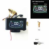 12-36V 3 Function Car Oil Pressure +Voltmeter+Voltage+Water Temperature Gauge