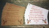 50 Magic Reindeer Food Tags Labels Charity School Fund Raising Christmas Eve