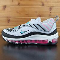 Nike Air Max 98 South Beach White Black Pink Green Women Shoes AH6799-065