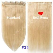 AAAA+ One Piece Clip In 100% Real Remy Human Hair Extensions 3/4 Full Head I445