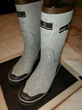 "❄Arctic Shield womens sz 10 Rain Boots, snow, mud,13"" tall w/2""heel. brown/gray."