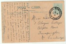 More details for 1907 south wales sorting carriage north mail up welsh tpo on ppc >trumpington