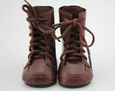 Doll Shoes Vintage Brown Leather Boots Fit 18inch American Girl Doll Accessories