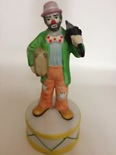 Emmett Kelly Jr Figuine With Umbrella and Suitcase. Music Box. Vintage. Musical