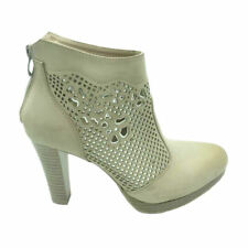 Womens Ladies Ankle Boots Block High Heel Zip Up Pull On Party Winter Shoes New