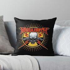 Megadeth Heavy Mental Band High Quality Throw Pillow