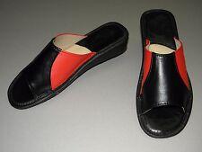 Damen Hausschuhe-Pantoffeln Echt Leder Gr.41