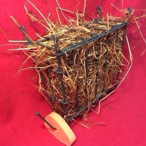 Hay Feeder Manger Rack Rabbit Guinea Pig Chinchilla With Free Carrot Salt Lick