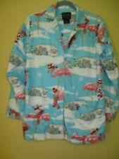 Nick & Nora Pajamas Flamingo Airstream Trailer Christmas Size S Cotton Flannel
