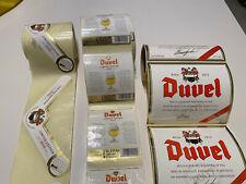 Super rare DUVEL beer labels unused 3 liter Double Magnum 2010 SET OF 2