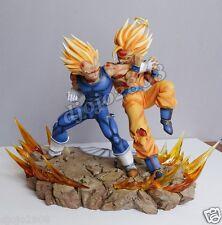 resine statue dragon ball dbz vkh songoku versus majin vegeta neuf - new