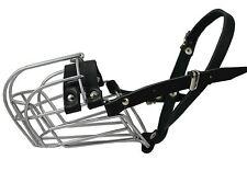 "Metal STRONG Wire Basket Dog Muzzle. Circumf. 14"" Length 4,75'' German Shepherd"