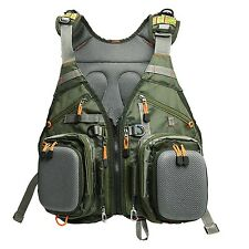 Lure Fishing Fly Fishing Vest Backpack Multi Pockets Tackle Bags Shoulder Green