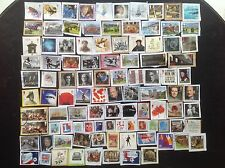 GB Stamps 100 RECENT Commemoratives to 2017 Kiloware + DAVID BOWIE Pink Floyd