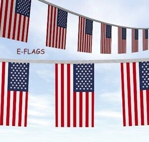 Thanksgiving Huge 100ft USA American Stars & Stripes Flag Party Bunting