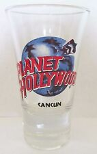PLANET HOLLYWOOD  CANCUN  FLUTED  3 1/2  INCH SHOT GLASS