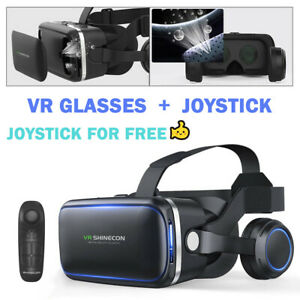 3D Virtual Reality VR Headset Glasses Goggles Box Fit Samsung Galaxy S8 8+ S9 S7
