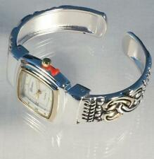 Cuff Watch, Brighton Beach Elegant Square Face Two-Tone-Free Xtra Battery